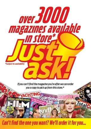 Over 3000 Magazines Available - Just Ask