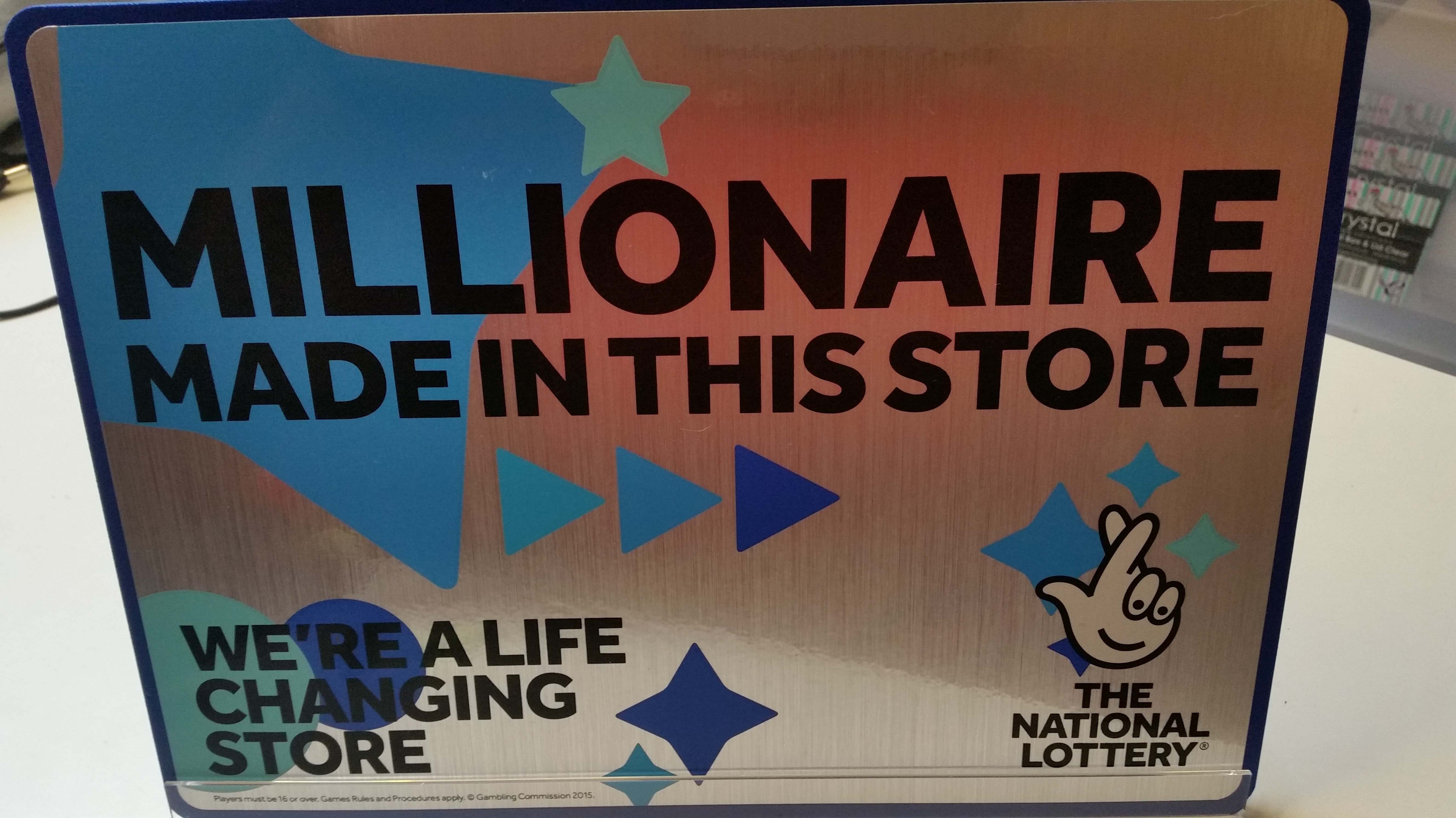 It's official!  Cabot Place West store has recently made someone a millionaire!