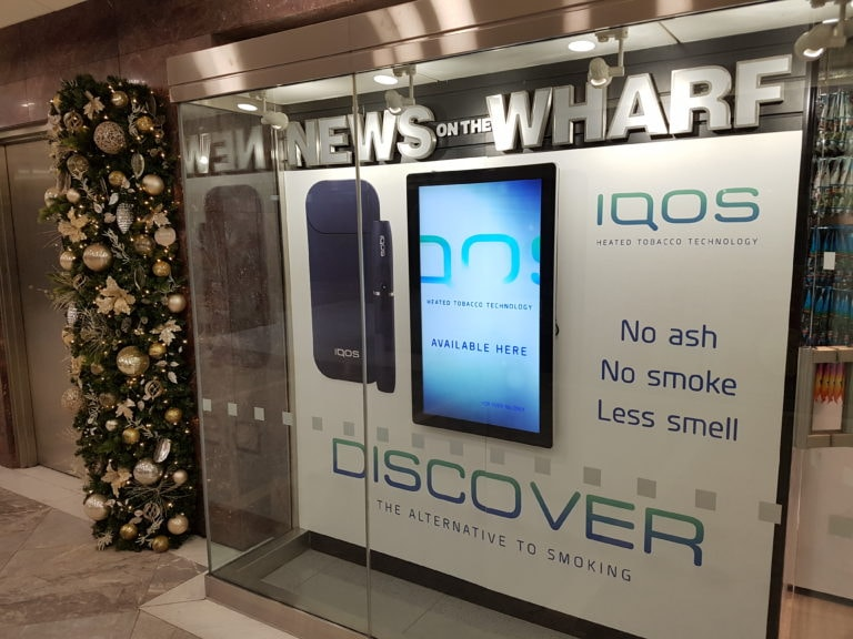 IQOS and NEWS on the WHARF